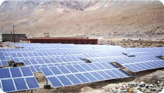 Ladakh Solar Power Plant India